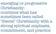 definition of emerging Christianity